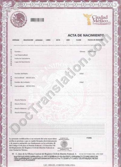 1995 certified translation of russian documents birth certificate mexico yadclub Images