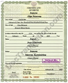 certified translation of birth certificate from russian to english