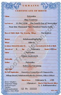 certified translation of birth certificate from ukrainian to english
