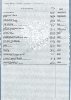 Russia Transcript for certified/notarized translation