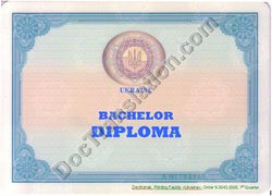 certified translation of Ukrainian Degree Diploma