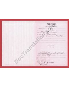 High School Diploma - Latvia