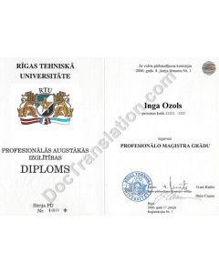 Diploma - Latvia