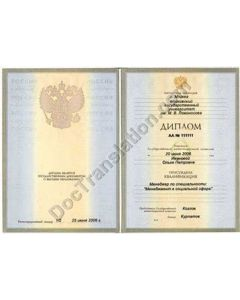 Bachelor, Master or Specialist Diploma - Russia