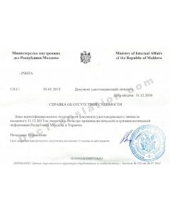 Police Clearance Certificate - Moldova