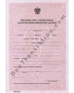School Certificate - Poland